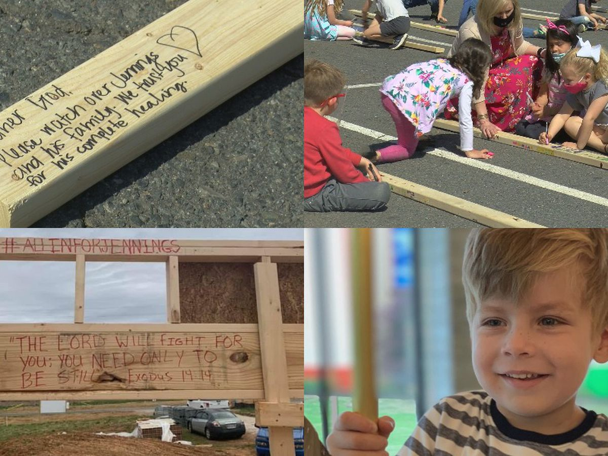 Messages of hope lead to powerful moment of prayer for Charlotte boy fighting cancer