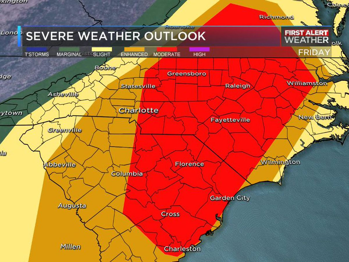 First Alert: Severe weather to bring storms, hail and damaging winds