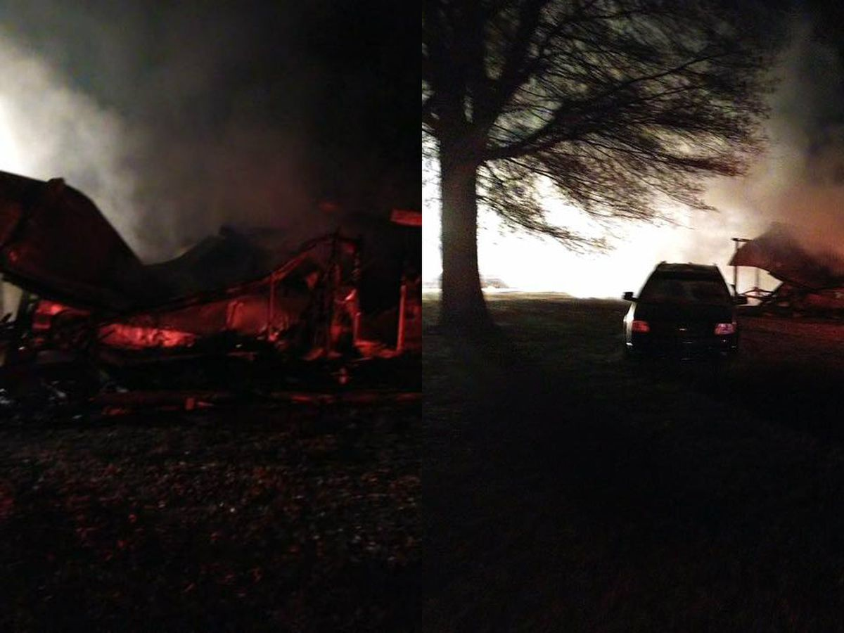 Crews control large building fire in Iredell County