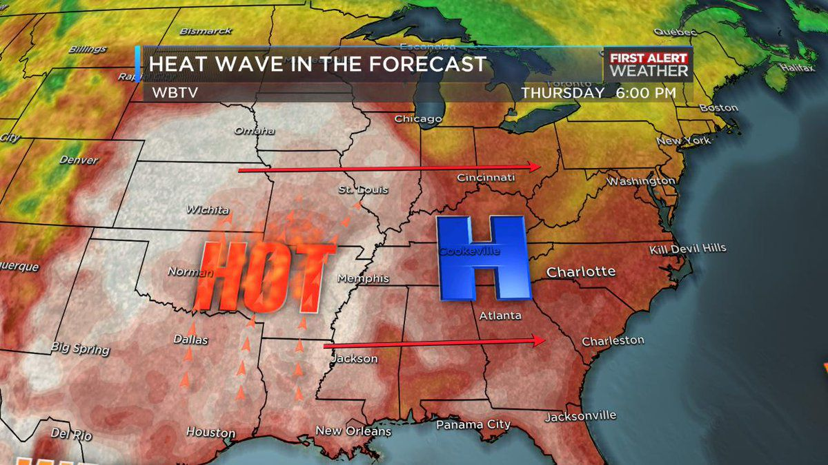 Spectacular mid-week forecast with temps pushing the 90s