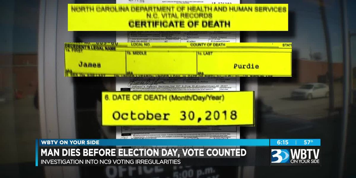 Man dies before election day, vote counted