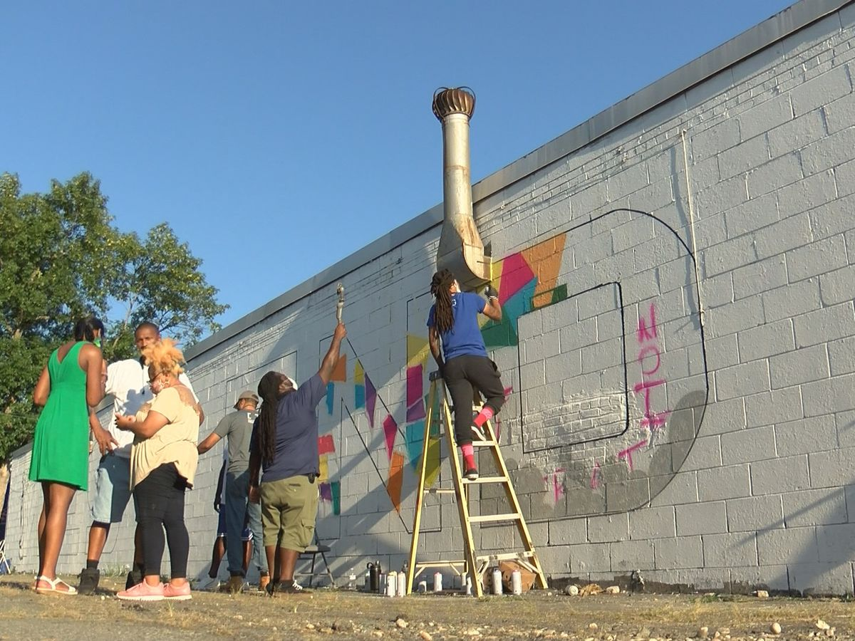 Artists continue to create more murals along Beatties Ford Road