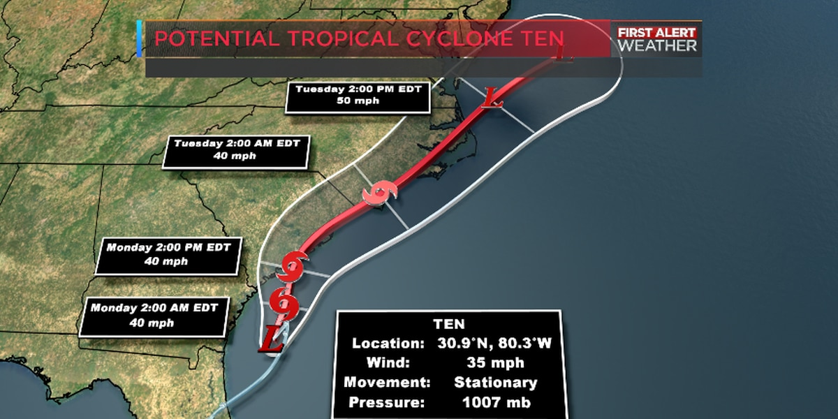 BLOG: Potential tropical cyclone #10 could impact NC coast