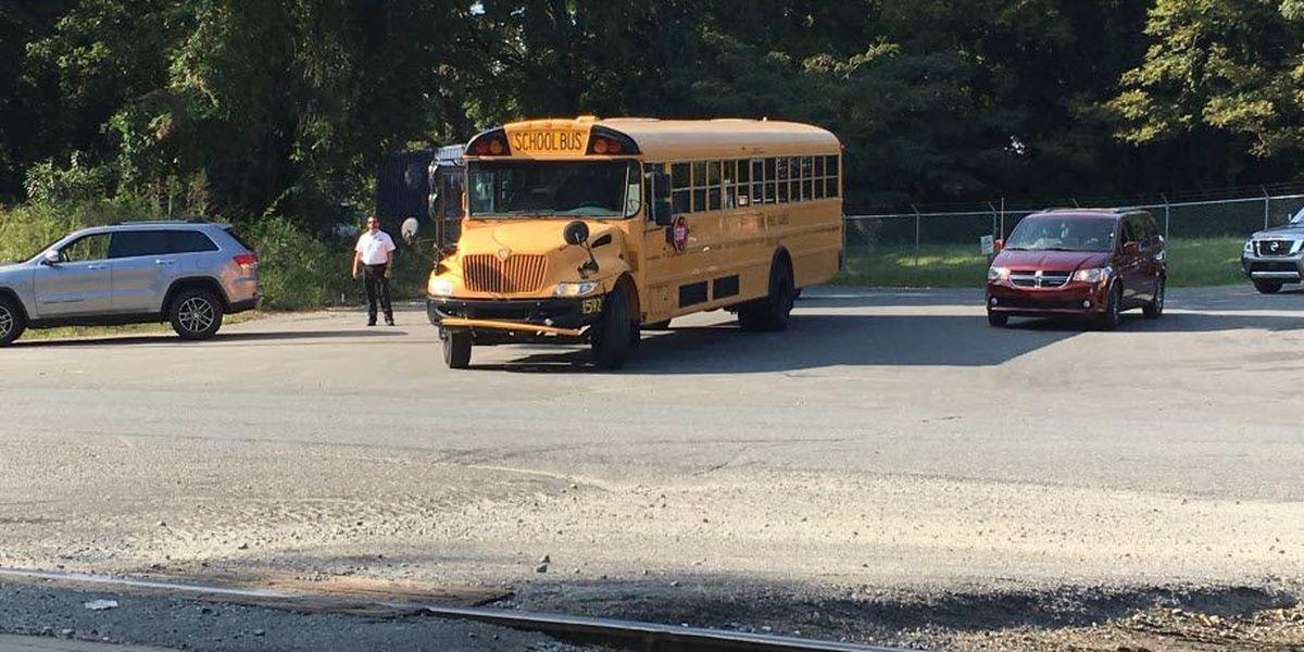 Two injured in crash involving school bus in northwest Charlotte