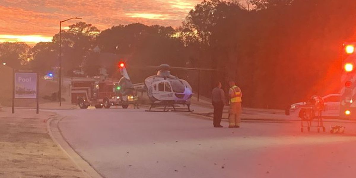 Person flown from scene of crash in Lancaster County