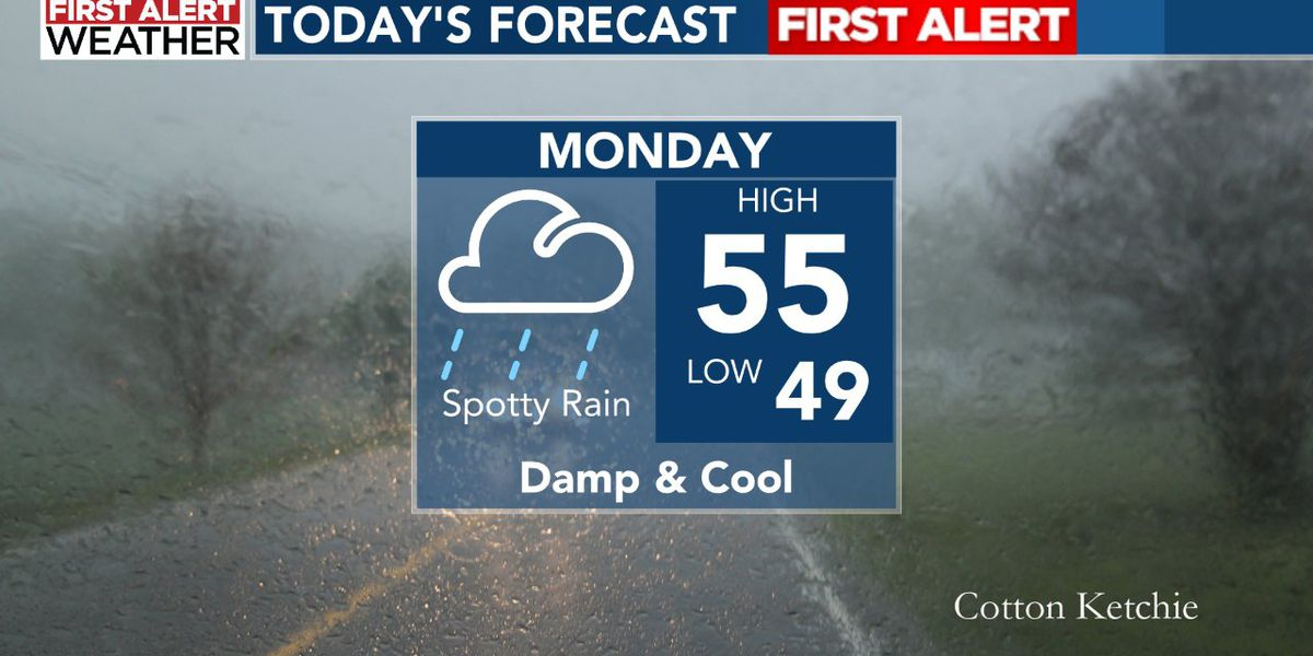 First Alert: Wet and cool today, warmer weather to return