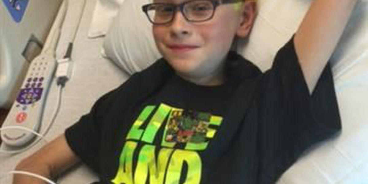 Rare cancer returns in 10-year-old Elijah Aschbrenner