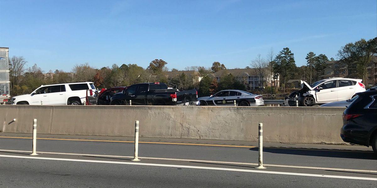 Crash on I-77 closes all northbound lanes
