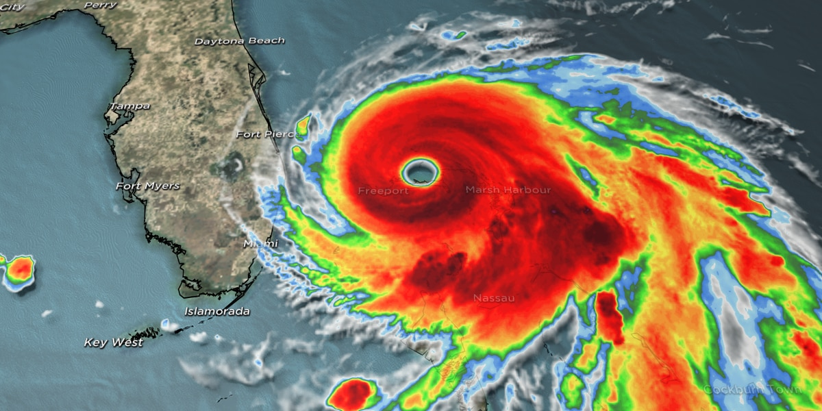 Hurricane Dorian continues to ravage Bahamas as it moves toward U.S. mainland