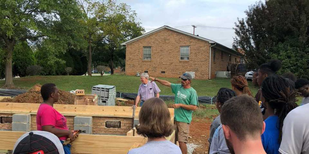 Catawba and Livingstone team up to build Habitat for Humanity house