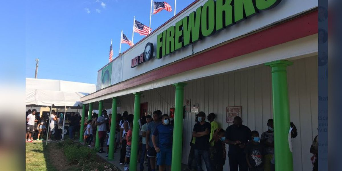 Fireworks in high demand as shoppers wait in long lines