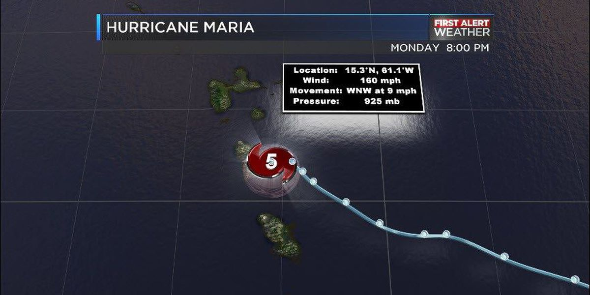 FIRST ALERT: Maria upgraded to 'extremely dangerous' category 5 hurricane