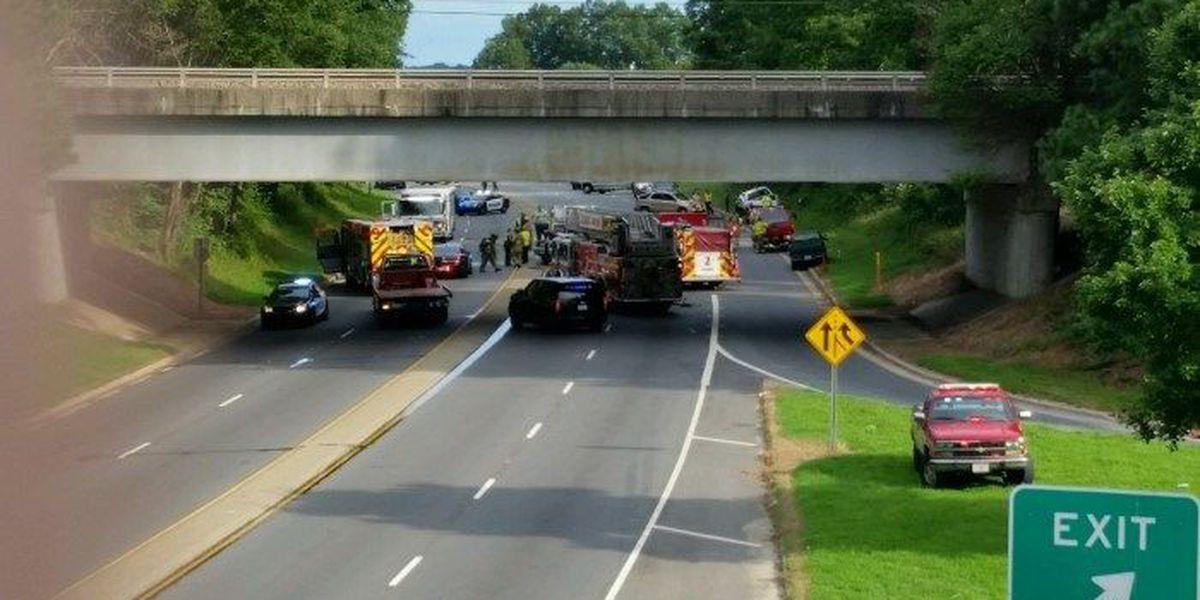 One dead in fiery three-vehicle crash in Salisbury