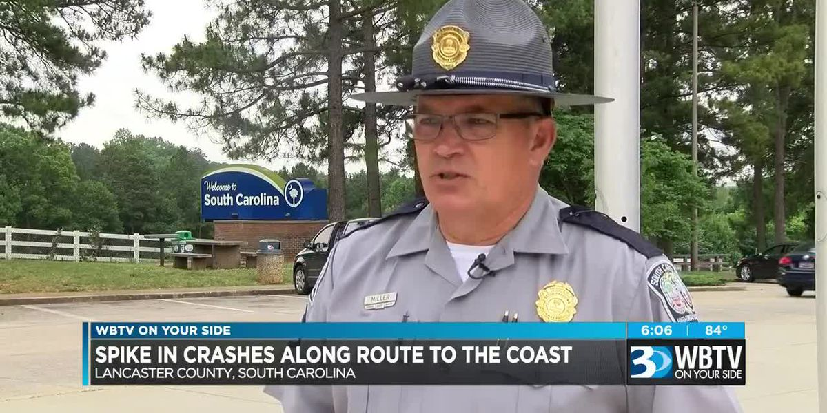 Spike in crashes along route to coast