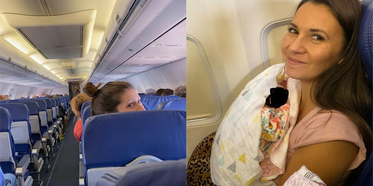 A couple flying home with their newly adopted daughter received an impromptu baby shower on the plane