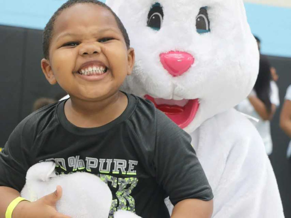 Weather doesn't spoil Livingstone's Easter egg hunt on Saturday