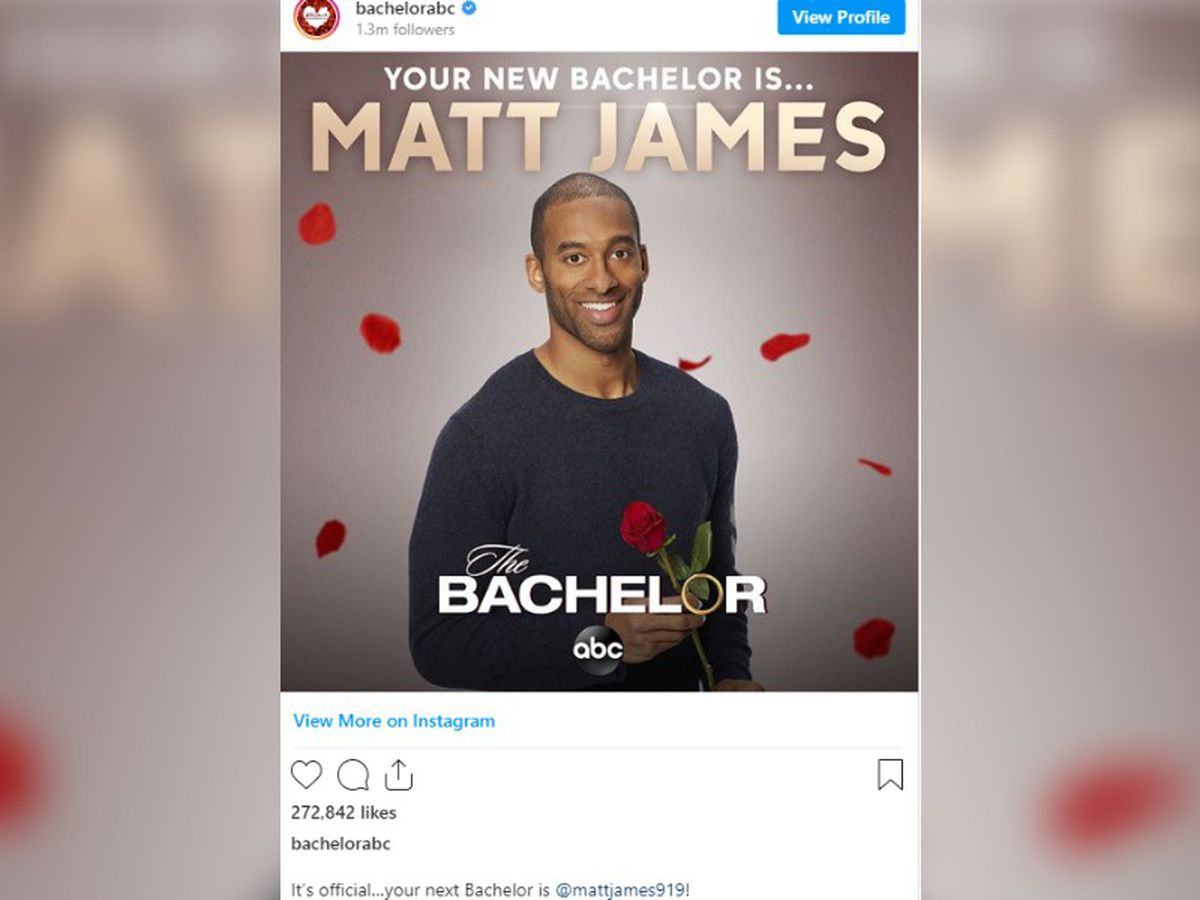 """The Bachelor"" casts first black male lead, Matt James"