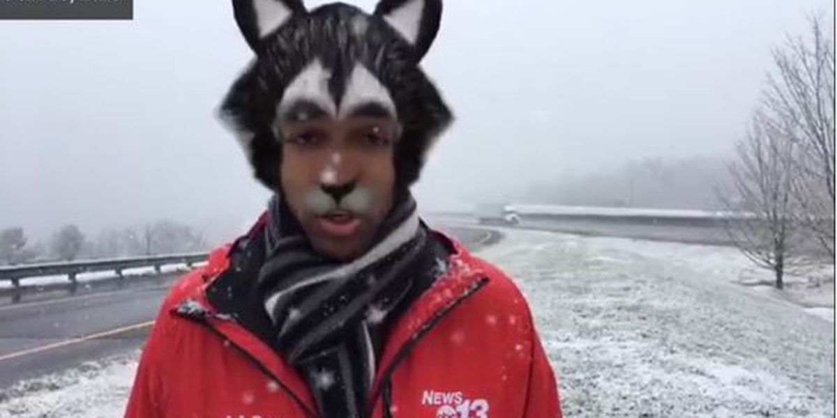 TV reporter accidentally turns mask filter on before live in NC, video shows