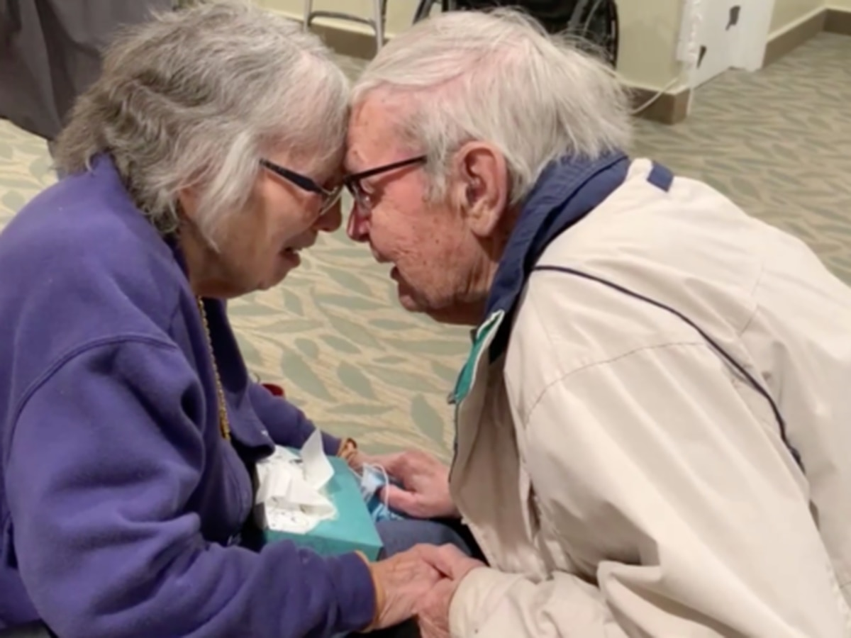 Couple married for 70 years reunited after months apart due to coronavirus restrictions