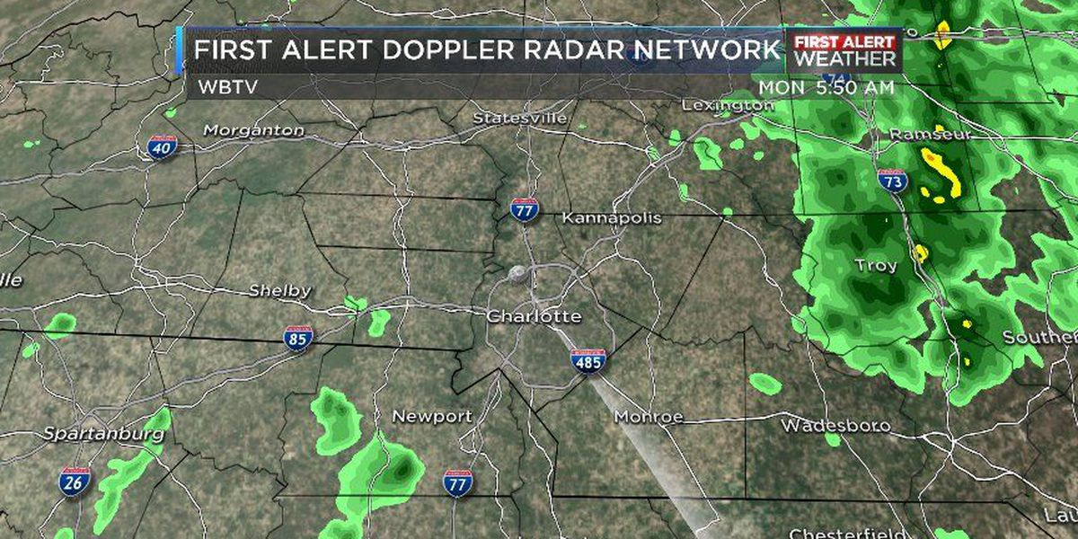 First Alert: Rain, possible thunderstorm expected tonight into Tuesday
