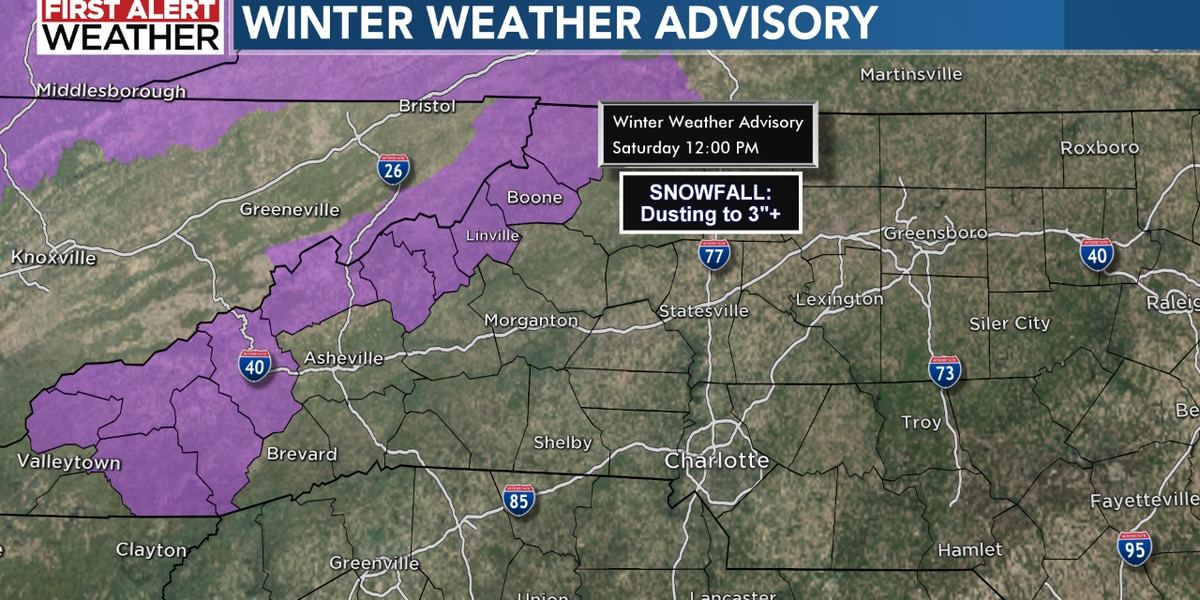 N.C. mountain snow ends Saturday morning; sunny weekend ahead