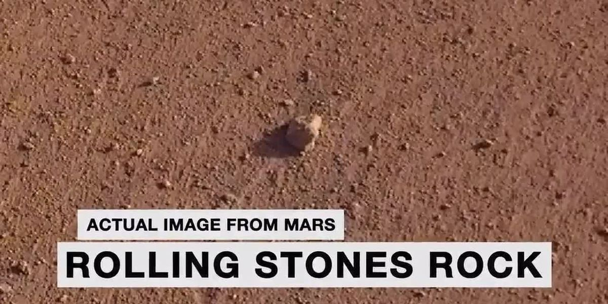 NASA names Mars rock after the Rolling Stones