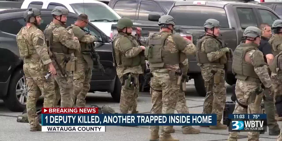 1 deputy killed, another trapped inside home in Watauga County