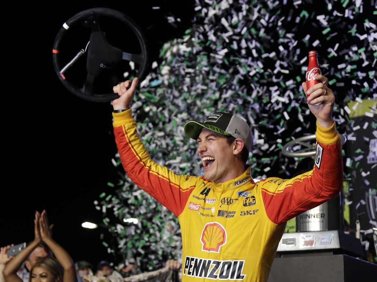 Joey Logano spoils Big Three party to win NASCAR title