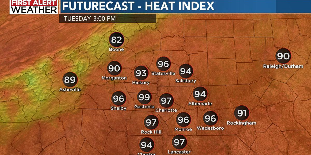 Off the chart humidity in the forecast