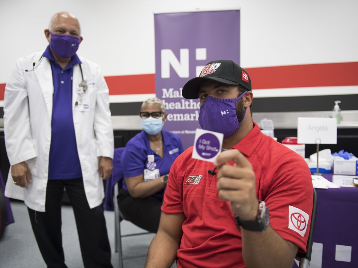 NASCAR's Bubba Wallace partners with Novant Health to address vaccine hesitancy
