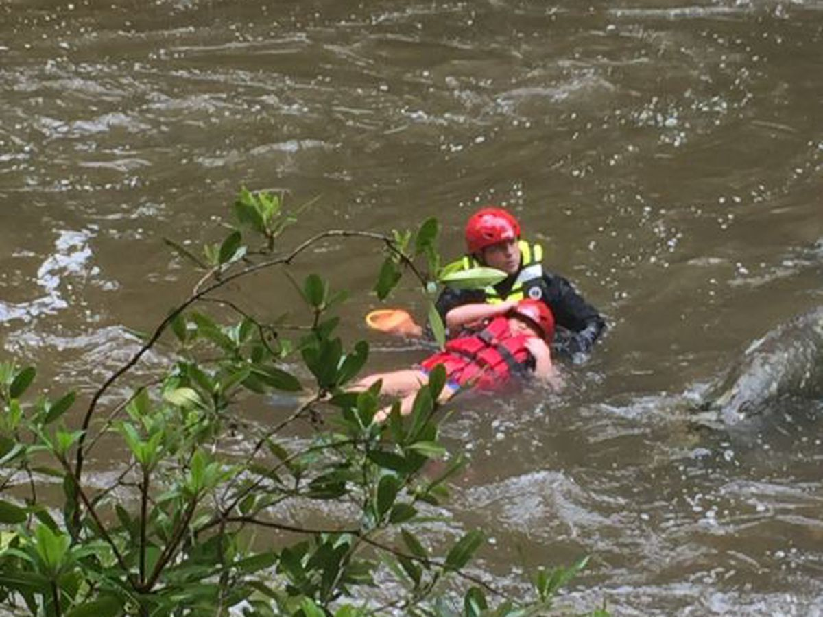 Three rescued from surging waters on Burke Co. creek