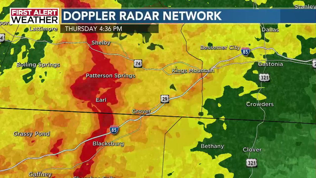 Tornado Warning issued for part of WBTV viewing area as severe weather moves in