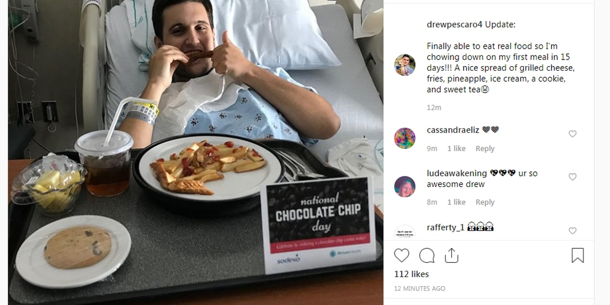 First 'real' meal in 15 days for UNC Charlotte shooting victim