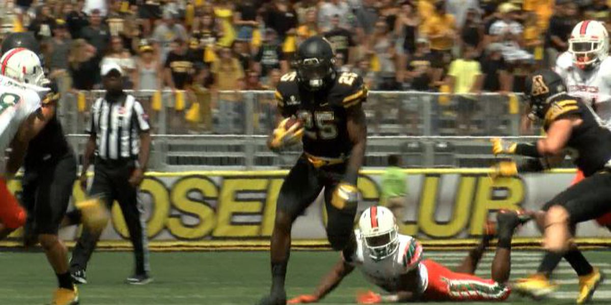 App State RB Jalin Moore accepts an invitation to play in the Senior Bowl