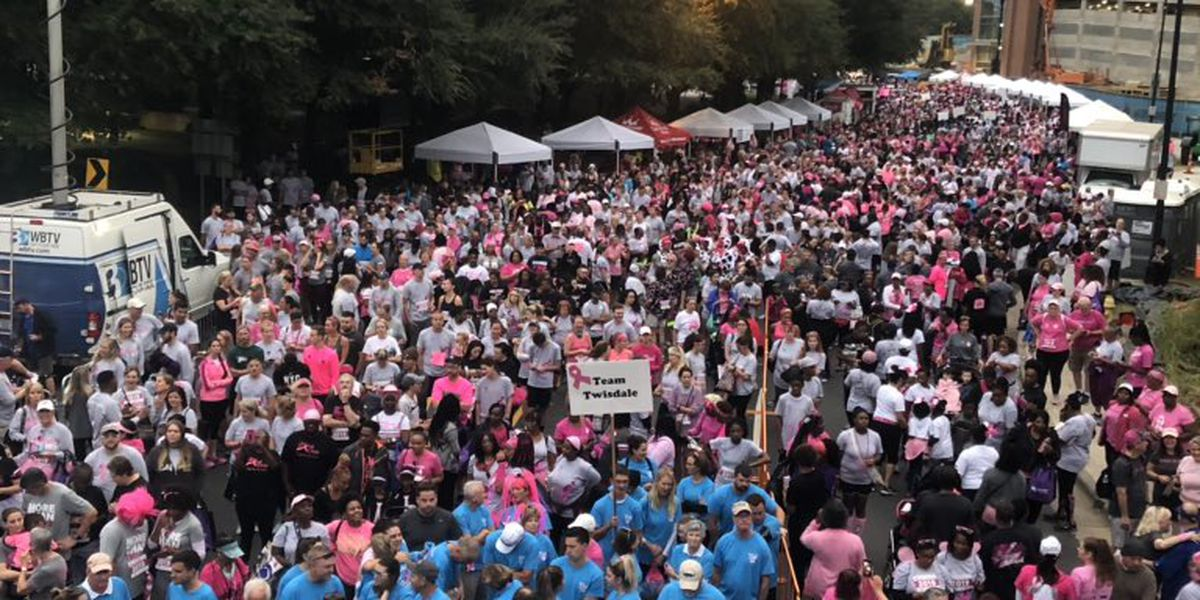 Breast cancer survivors, supporters 'race for the cure' in uptown