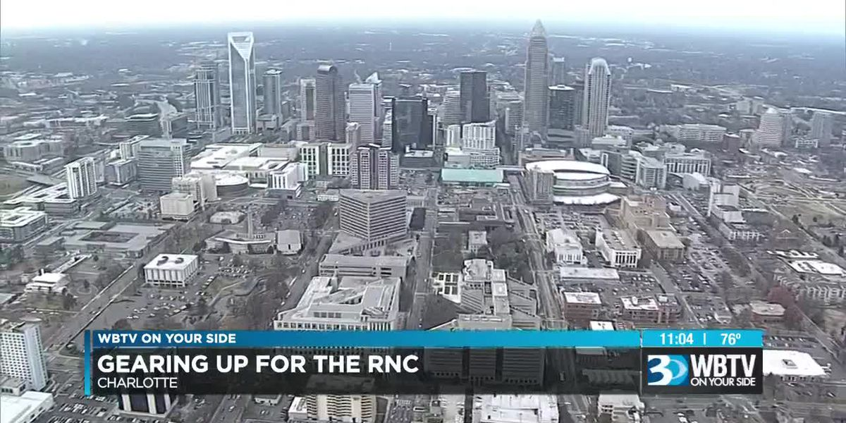 Volunteers getting ready for the RNC in Charlotte next year