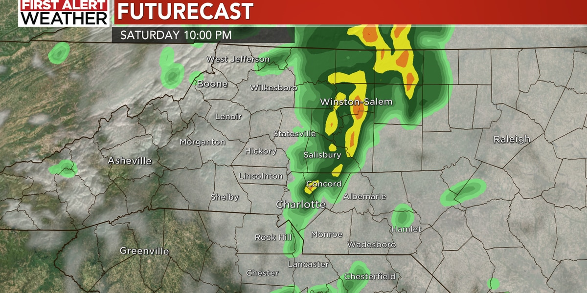 Thunderstorms bring gusty winds, heavy rain to WBTV viewing area