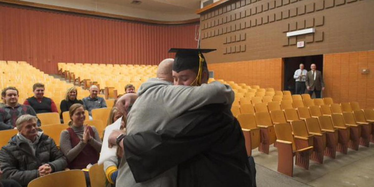Dying man surprised by special graduation for his son