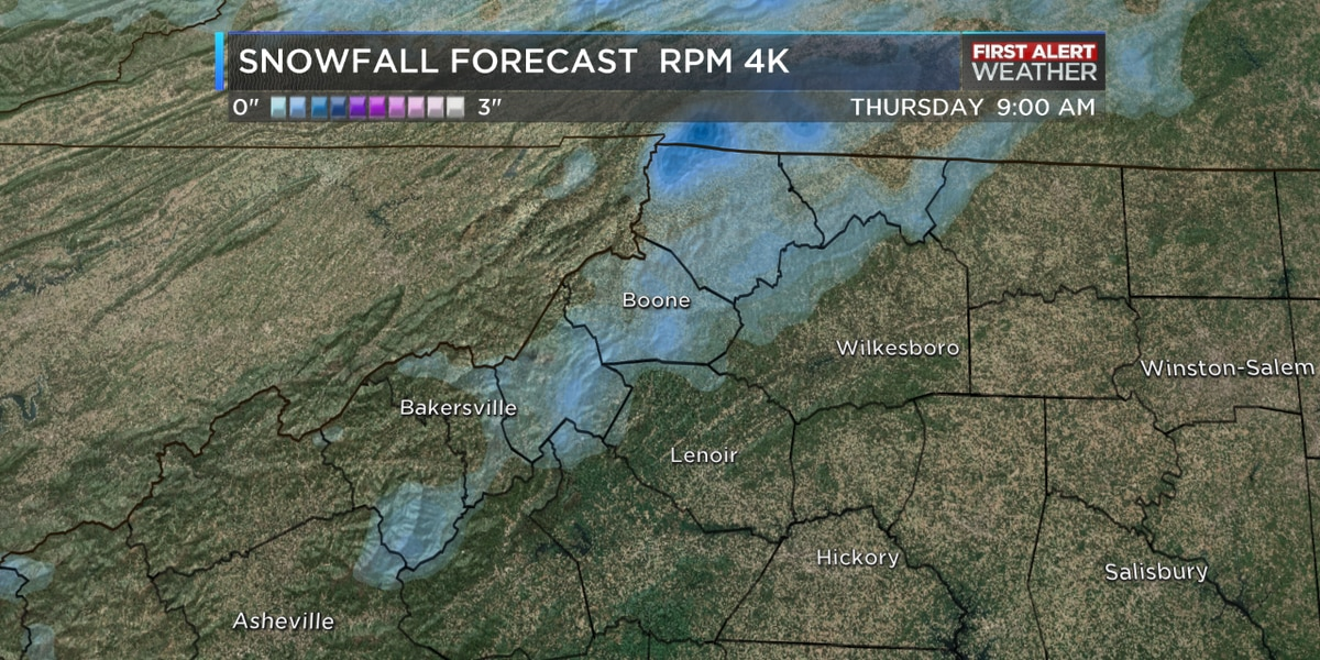 First Alert night for mountain snow