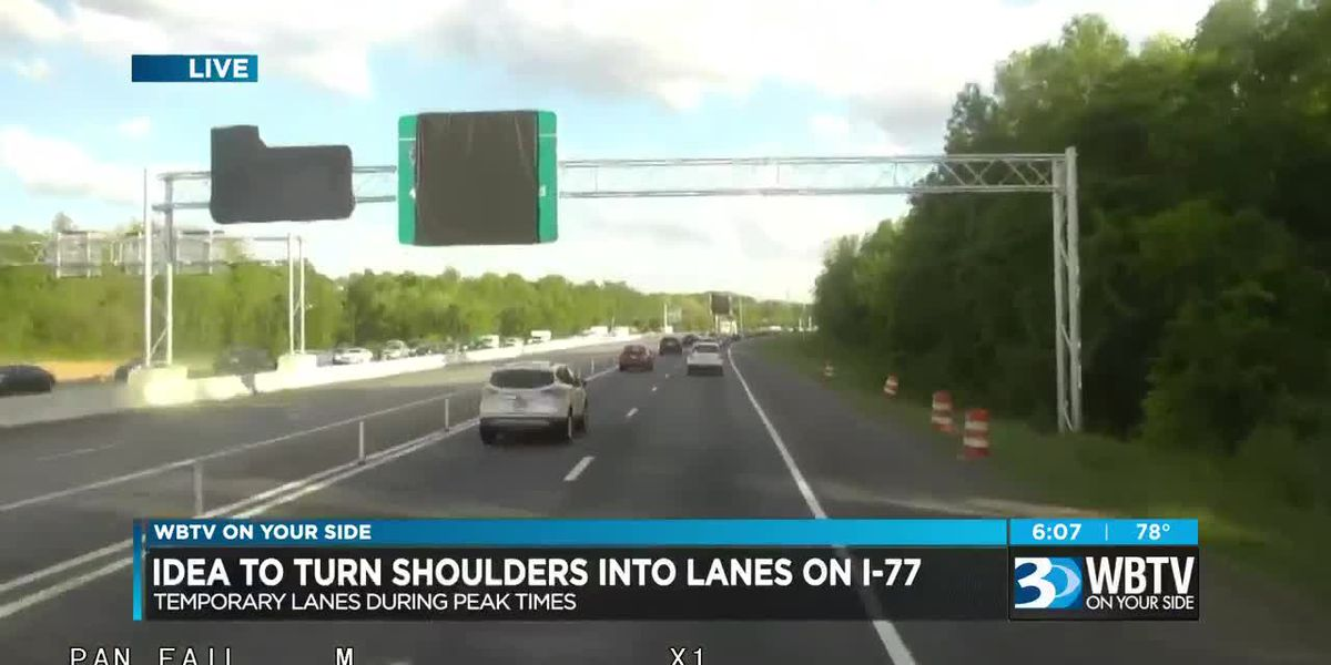 Use of shoulder lanes viewed as option for I-77 congestion relief