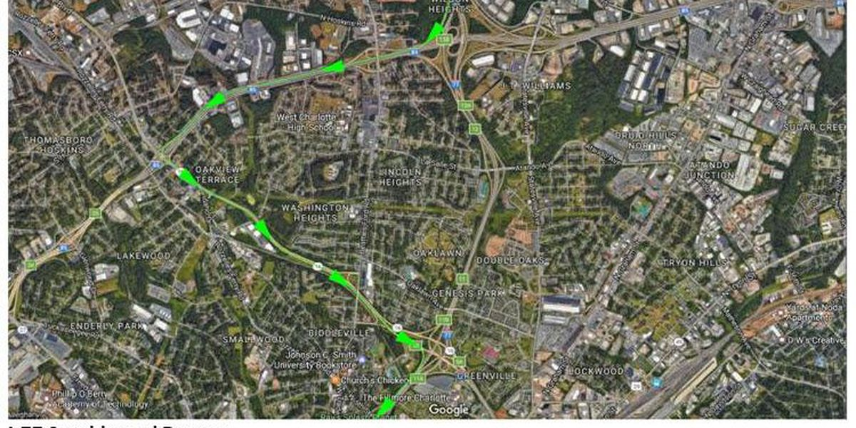 Overnight Detours Coming to I-77 near uptown Charlotte