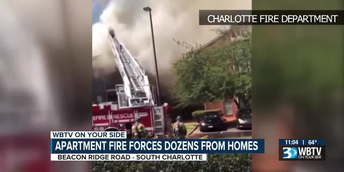 Apartment fire forces dozens from homes