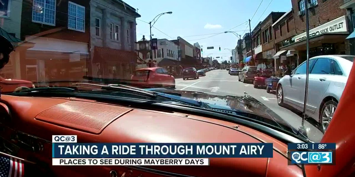 Take a squad car tour through Mount Airy