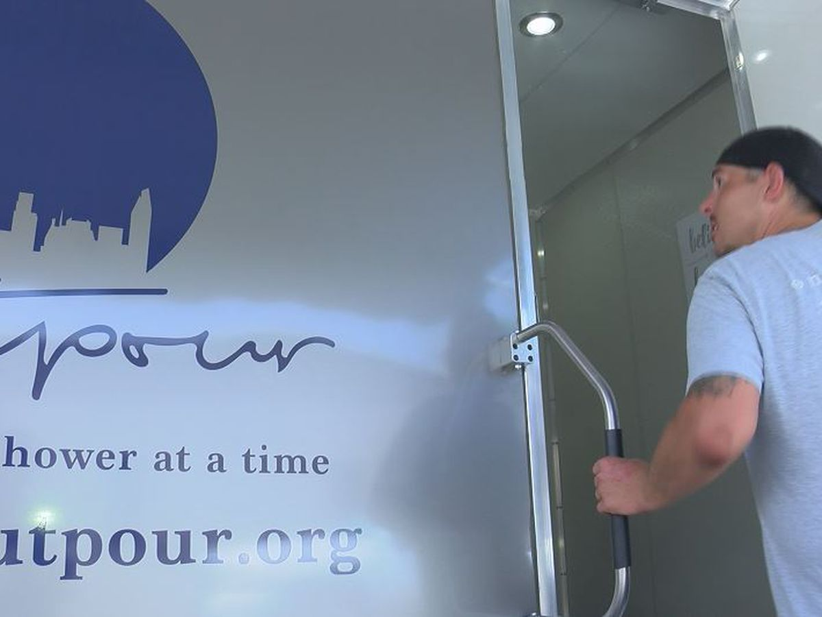 'You feel like a new person.' Charlotte homeless community introduced to new mobile shower trailer