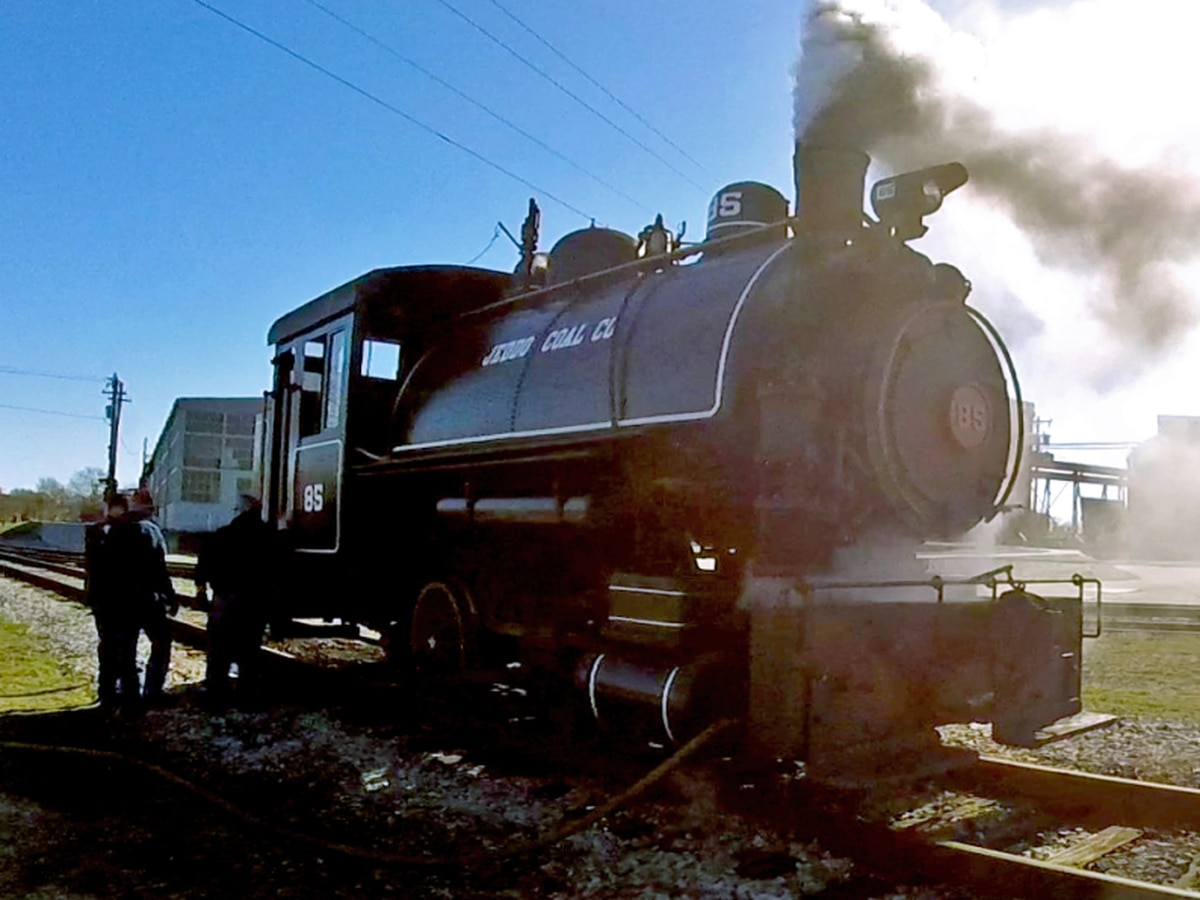 "Put your rail fan ""At the Throttle"" of authentic steam locomotive for Valentine's Day"