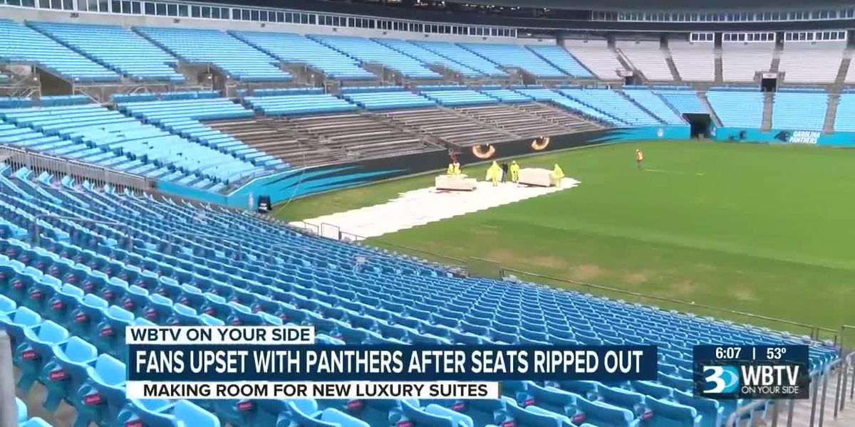 Panthers fans upset as seats set to be ripped out to make room for luxury suites