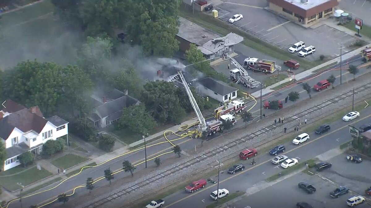 Crews battle two-alarm fire at two-story home in Mooresville
