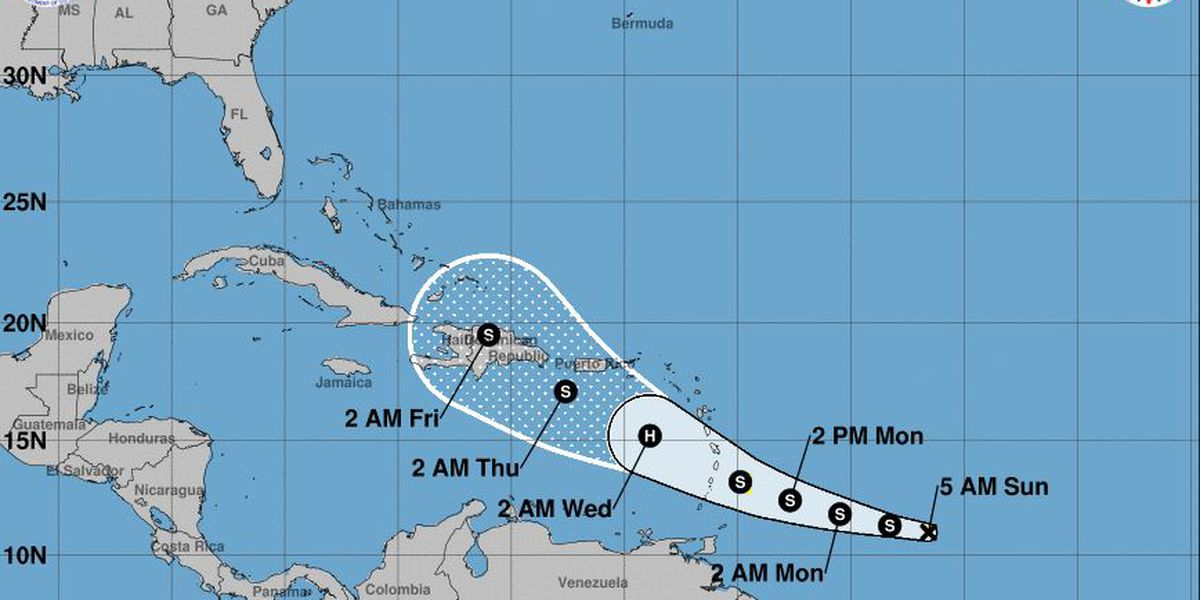 Tropical Storm Dorian strengthens as it moves west