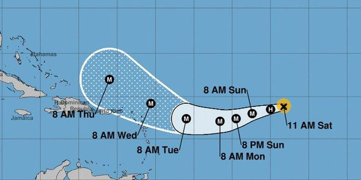 """Hurricane Irma now a Category 2, moving across Atlantic as """"small"""" storm"""