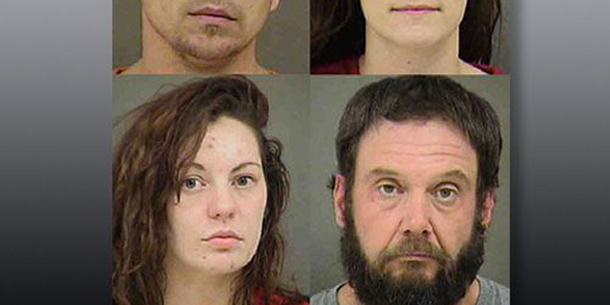 Four facing multiple drug charges after stolen vehicle found at Charlotte hotel